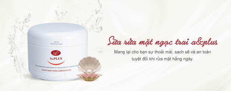 Sữa rửa mặt ngọc trai A&Plus Cleansing Cream MV002 01