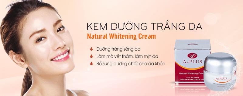 Kem dưỡng trắng da mặt A&Plus Natural Whitening A014 01