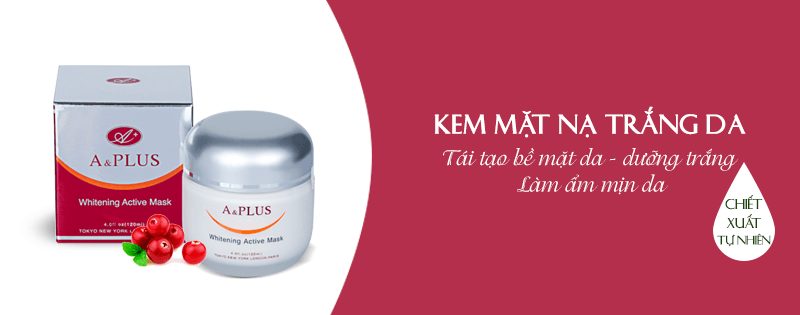 Kem mặt nạ trắng da A&Plus Whitening Active Mask A010 01