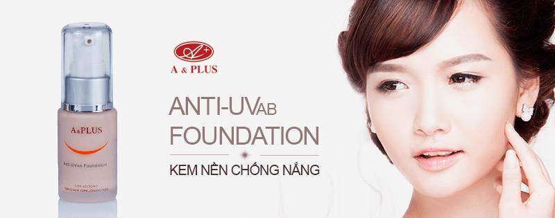 Kem nền chống nắng A&Plus Anti-UV Foundation A013 01