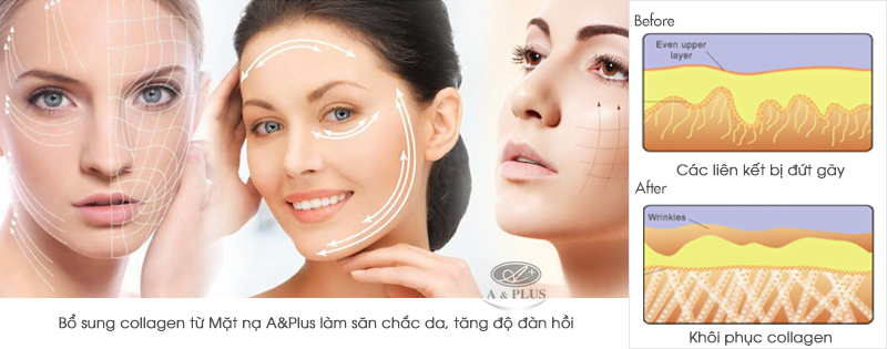 Mặt nạ collagen tươi A&Plus 90% Pure Collagen Mask A022 02