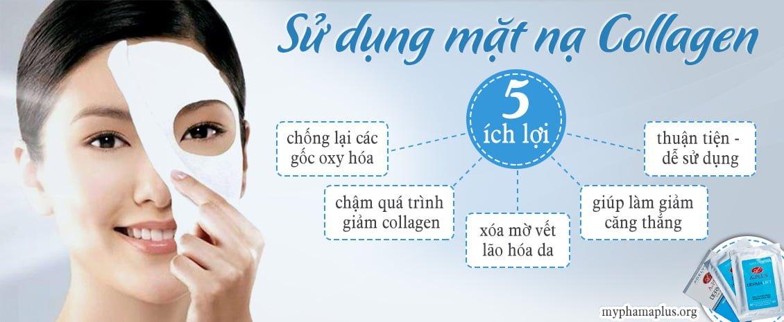 5 lợi ích của việc sử dụng mặt nạ collagen 1