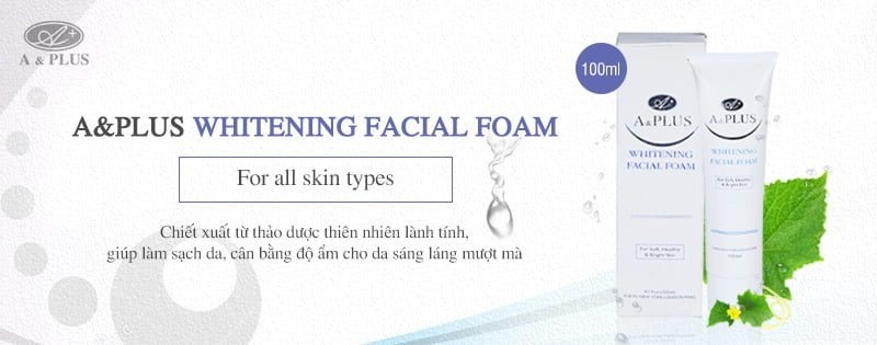 Sữa rửa mặt thảo dược A&Plus Whitening Facial Foam B002 100ml 01