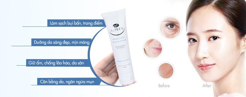 Sữa rửa mặt thảo dược A&Plus Whitening Facial Foam B002 100ml 03