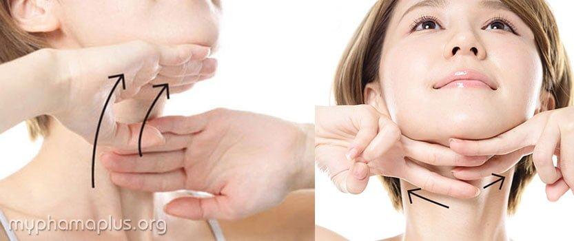 5 bước massage chống chảy sệ da mặt 5