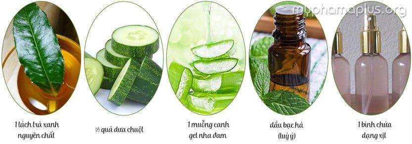 Cách làm xịt khoáng trà xanh dịu mát cả ngày dài 2