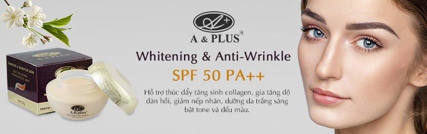 Kem dưỡng trắng da chống lão hóa phục hồi da A&Plus SPF 50 PA+++ 1
