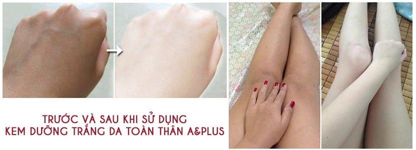 Kem dưỡng trắng da toàn thân A&Plus Whitening Body SPF 45 PA+++ 2