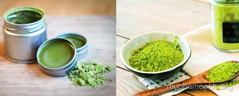 Công thức làm son dưỡng môi từ bột trà xanh matcha