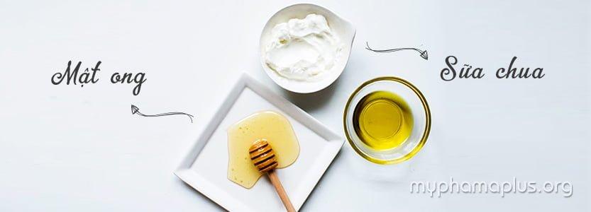 Cách làm trắng da mặt cho nam bằng mật ong và sữa chua