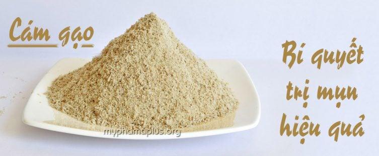 Bí quyết trị mụn hiệu quả với cám gạo
