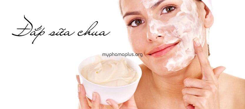 #1. Cách làm đẹp da mặt bằng mặt nạ sữa chua nguyên chất