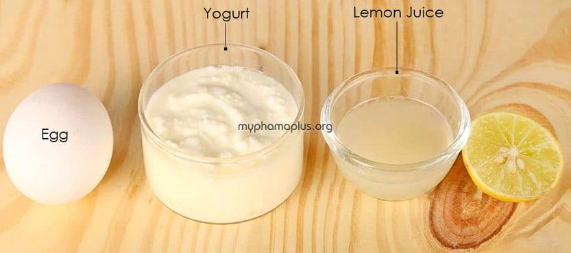 #4. Làm đẹp da mặt bằng sữa chua, chanh và lòng trắng trứng gà