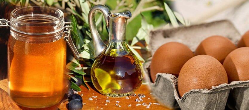 Cách chăm sóc tóc bằng mật ong, trứng gà và dầu oliu
