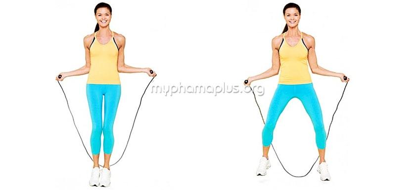 Cách nhảy dây xoạc chân để giảm cân